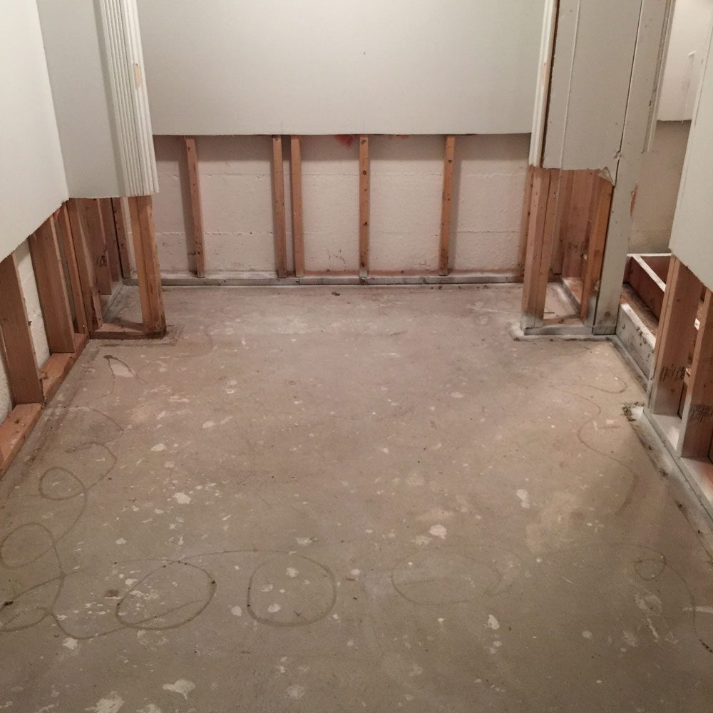 Closet- Remediated for Mold