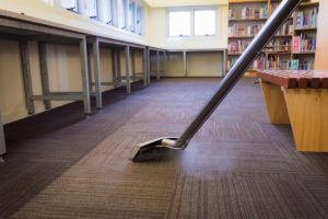 Carpet cleaning service in an office